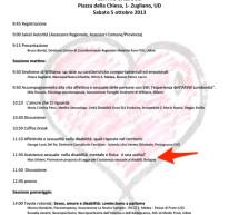 Convegno a Udine il 5 Ottobre 2013